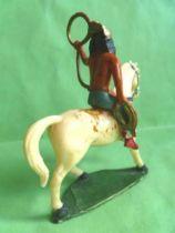 Starlux - Indians - Series Regular 53 - Mounted Lasso white walking horse (ref 438)