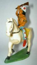 Starlux - Indians - Series Regular 53 - Mounted Raising rifle (blue) white walking horse (ref 432)