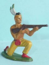 Starlux - Indians - Series Regular 57 - Footed Firing rifle kneeling (yellow) (ref 142)