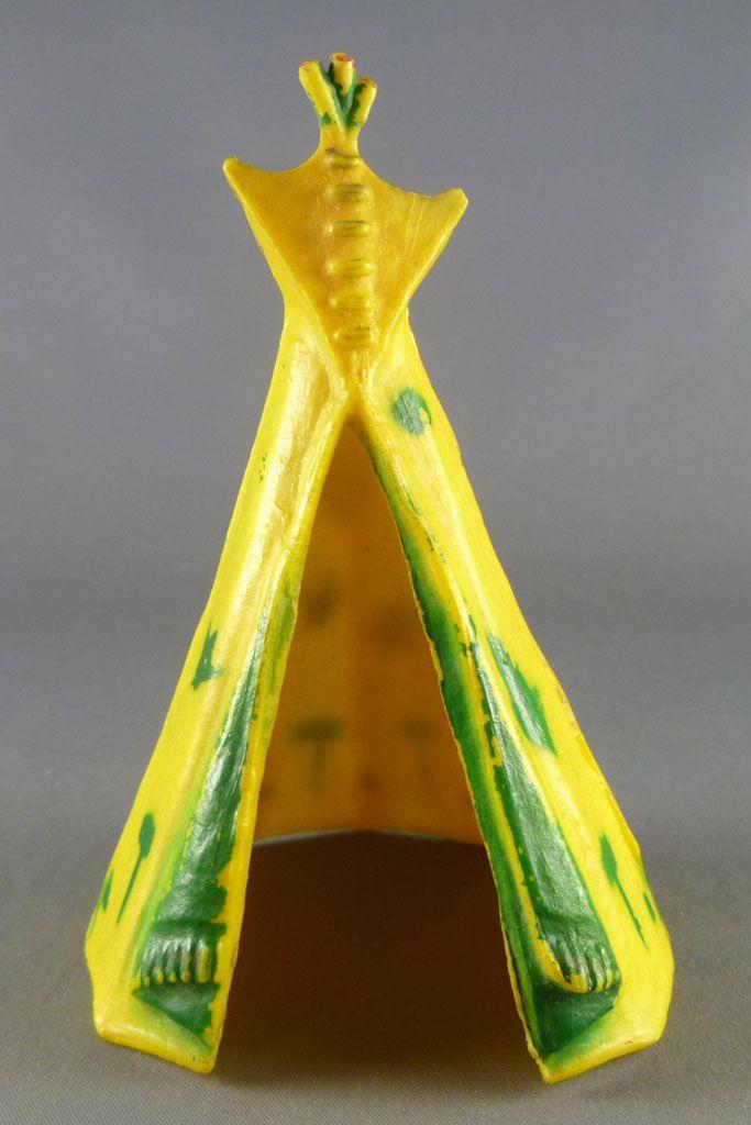 Starlux - Indiens - Accessoires Série Ordinaire 54 - Tente indienne jaune & verte (réf 856)