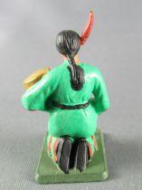 Starlux - Indiens - Série Luxe 57 - Piéton Squaw accroupie avec bébé (réf 2833)