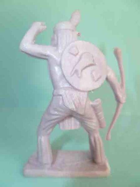 Starlux - Indiens - Série Luxe Spéciale 68 - Piéton Guetteur arc à la main non peinte (réf 5146)