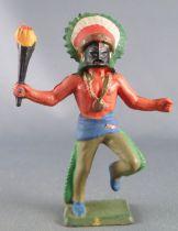 Starlux - Indiens - Série Luxe Spéciale 68 - Piéton Masque & torche (réf 5149)