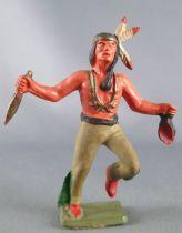 Starlux - Indiens - Série Luxe Spéciale 68 - Piéton Poignard & scalp (réf 5150)