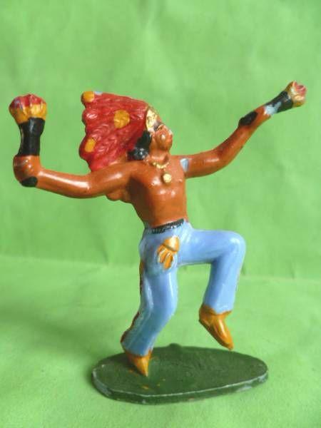 Starlux - Indiens - Série Ordinaire 53 - Piéton Danseur torche (réf 150)