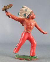 Starlux - Indiens - Série Ordinaire 53 - Piéton Hache (rouge) (réf 147)