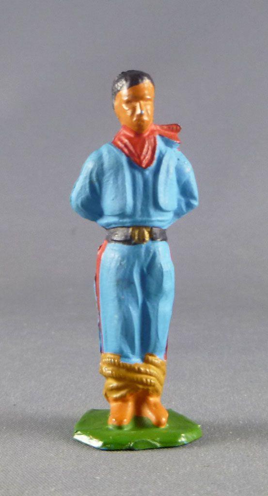 Starlux - Indiens - Série Ordinaire 53 - Piéton Prisonnier (bleu ceinture noire) (réf 203)