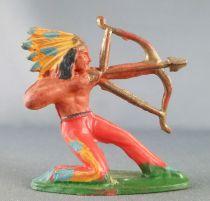 Starlux - Indiens - Série Ordinaire 53 - Piéton Tireur arc genoux (réf 144)