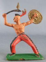 Starlux - Indiens - Série Ordinaire 57 - Piéton Hache & bouclier (rouge) (réf 148)