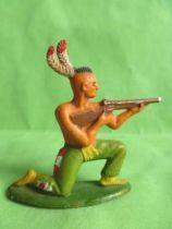 Starlux - Indiens - Série Ordinaire 57 - Piéton Tireur Fusil genoux (vert) (réf 142)