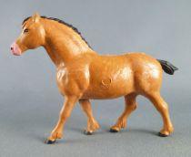 Starlux - La Ferme - Animaux - Cheval Percheron marron (Série Luxe 82 réf 2549)