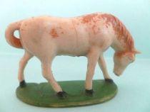 Starlux - La Ferme - Animaux - Cheval tête baissée sur socle (série 53/54 réf 542)