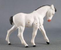 Starlux - La Ferme - Animaux - Poulain blanc sans socle (série 65/66 réf 535)