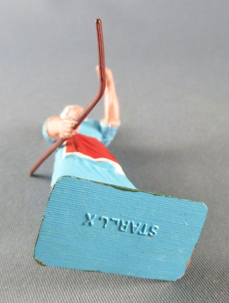 Starlux - La Ferme - Fermière avec bâton bleue (série 75 réf PF12)