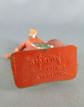 Starlux - la ferme - Fermière donnant le grain (orange & vert) (série 59 réf 510)