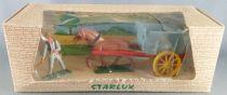 Starlux - La Ferme - Machine Agricole - Tombereau avec cheval & faucheur gris (réf 602) Neuf Boite