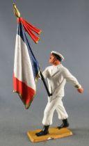 Starlux - Marins - Série Luxe - Défilant Porte-drapeau Képi (réf 5058)