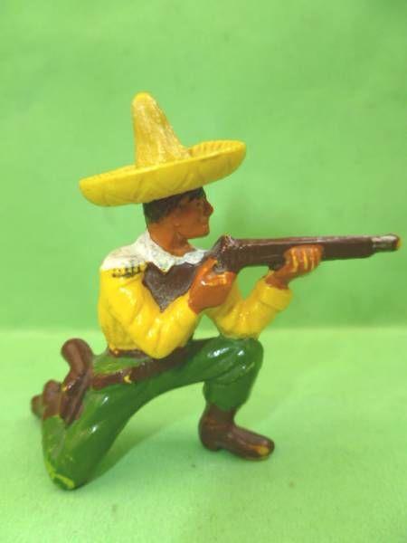 Starlux - Mexicains - Série Luxe 56/57 - Piéton tireur fusil genoux (réf 2142)