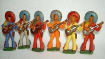 Starlux - Mexicans - Series 54 - Footed guitar (orange - blue scarf) (ref 245)