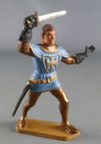 Starlux - Middle-age - 61Series - ref 6037 (gold base) - Footed Ivanhoe blue & gold