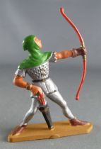 Starlux - Middle-age - 63 Series - ref 6045 (grey base) - Footed Archer with cowl (green & silver)