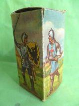 Starlux - Moyen-âge - série 58 - réf 6003 - Boite Vide pour piéton seigneur combattant bouclier a barre