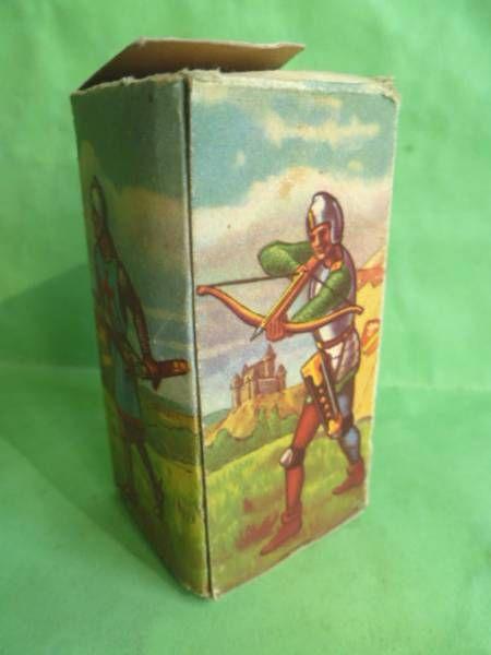 Starlux - Moyen-âge - série 58 - réf 6004 - Boite Vide pour piéton seigneur combattant écu armorié (version 1961)