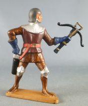 Starlux - Moyen-âge - série 62 - réf 6039 (socle or) - piéton homme d\'arme arbalete