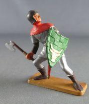 Starlux - Moyen-âge - série 63 - réf 6047 (socle gris) - Piéton Chevalier Combattant bouclier
