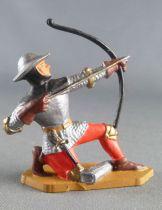 Starlux - Moyen-âge - Série 63 - réf 6051 (socle gris) - Piéton franc-archer genoux
