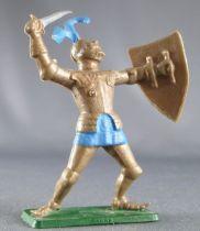 Starlux - Moyen-âge - série choc 66 - Piéton chevalier armure combattant réf MPC 38 2