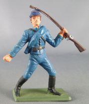 Starlux - Nordistes - Série ordinaire - Piéton Fusil à la main (bleu marine) (réf N4)