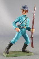 Starlux - Nordistes - Série ordinaire - Piéton Soldat fusil main gauche (bleu ciel) (réf N?)