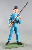 Starlux - Nordistes - Série ordinaire - Piéton Soldat Tenant Fusil bleu ciel (réf N11)