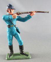 Starlux - Nordistes - Série ordinaire - Piéton Tireur fusil debout (bleu ciel) (réf N2)