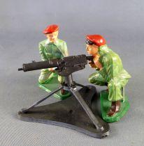 Starlux - Parachutistes - Série Luxe - Combattant mitrailleuse et servants (réf 5401 + 5064 + 5065)