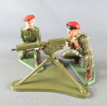 Starlux - Parachutistes - Série Luxe - Combattants Mitrailleuse & Servants vert (réf 5401 5064 5065)