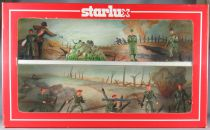 Starlux - Paratroopers & Headquarter Luxe Series - Boxed Set 2 Floors French Army 9 Pieces Mint