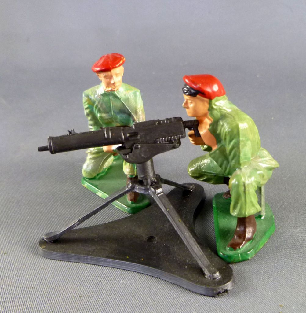 Starlux - Paratroopers - Series Luxe - Fighting machine gun & servants (ref 5401 + 5064 + 5065)