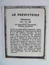 Starlux - Prehistory Notice - Allosaurus (ref PH68)