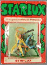 Starlux - Sioux - Série Ordinaire 57 - Blister 3 Piétons Lasso Fusil en l\'air Hache (réf 168 172 167)