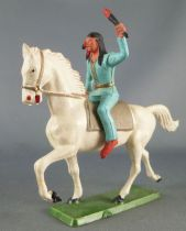 Starlux - Sioux Regular Series 1965 - Mounted with torch (blue) white troting horse (ref 435)