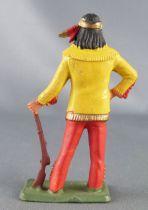 Starlux - Sioux Série Luxe Spéciale 65 - Piéton Fusil à la main (jaune & rouge) (réf 5162)