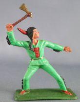 Starlux - Sioux Série Ordinaire 57 - Piéton Hache (vert) (réf 167)