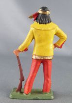 Starlux - Sioux Series Luxe Speciale 65 - Footed Rifle on side (yellow & red) (ref 5162)