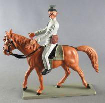 Starlux - Sudistes - Série ordinaire - Cavalier Badine Cheval Marron tête droite (réf CS7)