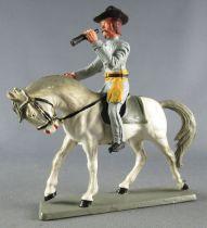 Starlux - Sudistes - Série ordinaire - Cavalier Officier longue vue cheval  blanc tête baissée (réf CS1) 2