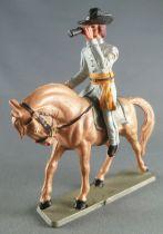 Starlux - Sudistes - Série ordinaire - Cavalier Officier longue vue cheval baie tête penchée (réf CS1)