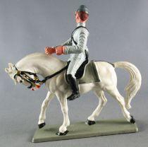 Starlux - Sudistes - Série ordinaire - Cavalier Regardant à Droite Cheval Blanc tête baissée (réf CSXX) 4