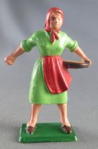 Starlux - the farm - farmer woman (green & red) (series 59 ref 510)